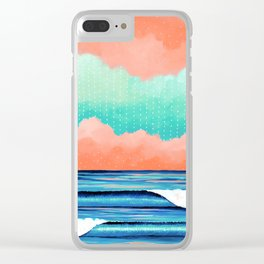 Graphic Seascape I Clear iPhone Case