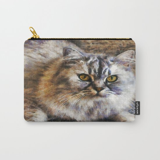 Brown Cat Carry-All Pouch