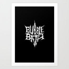 Bubblebath Art Print