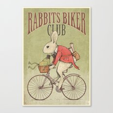 Rabbits Biker Club Canvas Print