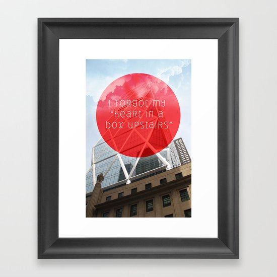 heart in a box upstairs Framed Art Print
