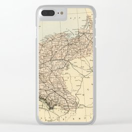 Old Map of Germany Clear iPhone Case