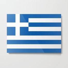 Flag of Greece, High Quality image Metal Print