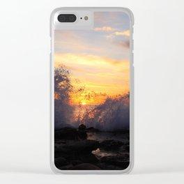 La Jolla Cove Sunset Clear iPhone Case
