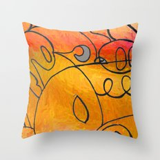 Curves at Sunset Throw Pillow