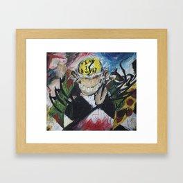Portrait of Greed Framed Art Print