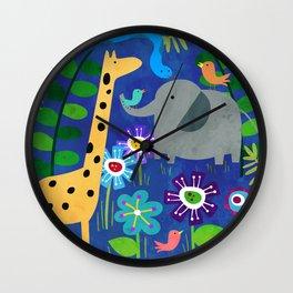 Safari Party Wall Clock