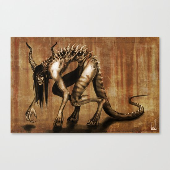 Corrupted Canvas Print