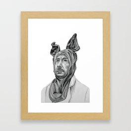 Robert Downey Jr in Bunny Suit Framed Art Print