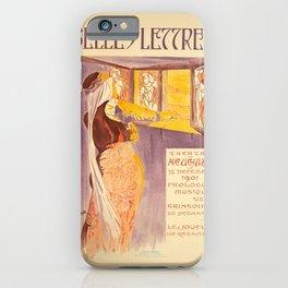 ancienne affiche belles lettres theatre de neuchatel iPhone Case