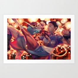 FIGHT! Art Print
