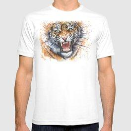 Tiger Watercolor Wild Animal Jungle Animals T-shirt