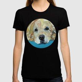 Shiner the Golden Retriever Portrait T-shirt