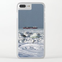 Freighter in the Ice Clear iPhone Case