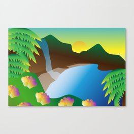 Waterfall #3 Canvas Print
