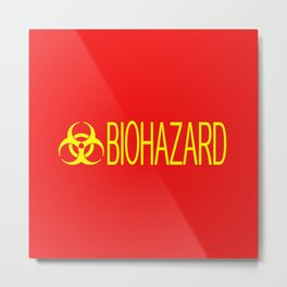 HAZMAT: Biohazard (Red & Yellow) Metal Print