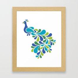 Retro Peacock Framed Art Print