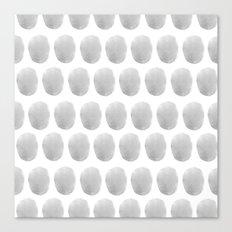 Watercolour polkadot grey Canvas Print