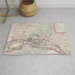 Vintage Map of Richmond Virginia (1884) Rug
