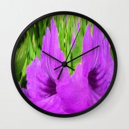 366 - Abstract Flower Design Wall Clock