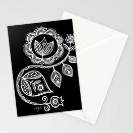 White Flower 15 Stationery Cards