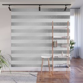Simply Striped Moonlight Silver Wall Mural