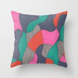 Interlocking Colors Throw Pillow