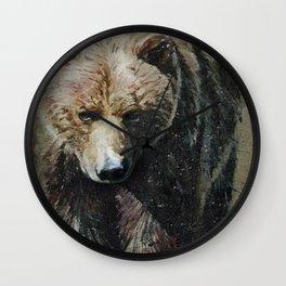 Bear background Wall Clock