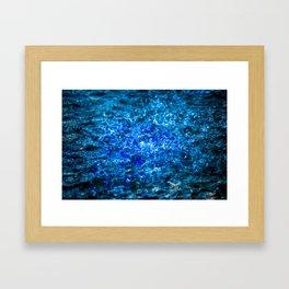 Water Color - Dark Blue - Navy Framed Art Print