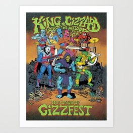King Gizzard and Lizard the Wizard Art Print