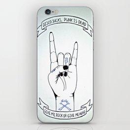 Dirty - Disco Sucks, Punk is Dead iPhone Skin
