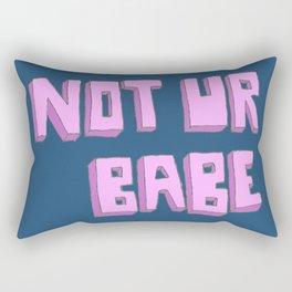 Not ur babe (blue version) Rectangular Pillow