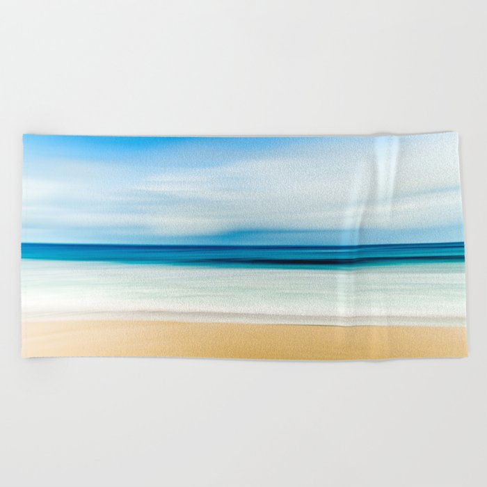 Blurred Beach Beach Towel