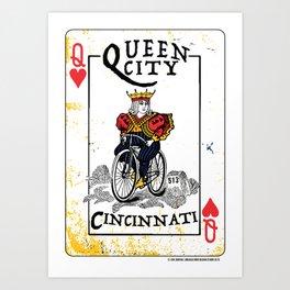 Queen of Cincinnati Bike Print Art Print