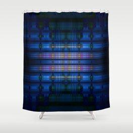 Dark blue blur pattern Shower Curtain