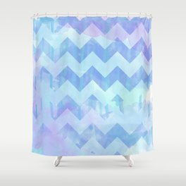 Watercolour Chevron {Spring 2015 Limited Edition} No. 2 Shower Curtain