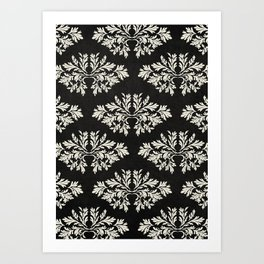 Foliage Black Art Print