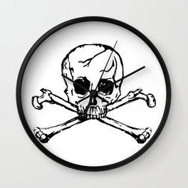 Black Skull Wall Clock
