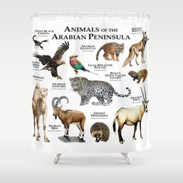 Animals of the Arabian Peninsula Shower Curtain