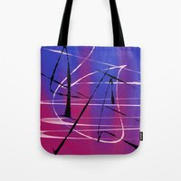 tangled Tote Bags featuring Tangled by Ordiraptus