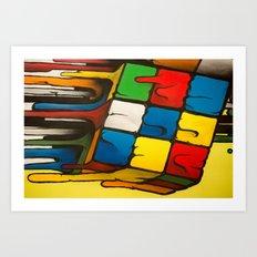 RUBIK CUB Art Print
