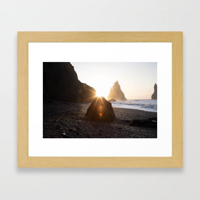 Sunny Rock Framed Art Print