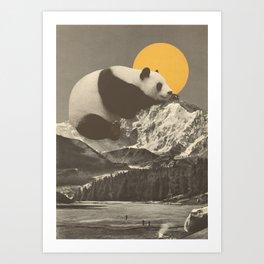 Panda's Nap Art Print