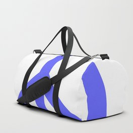 Peace (Azure & White) Duffle Bag