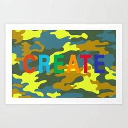 Creative Camo Art Print