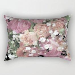 vintage pastel flowers Rectangular Pillow