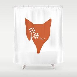 Red Fox and Rowan Tree Shower Curtain