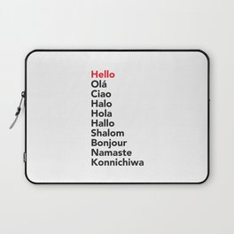 Hello in 10 Different Languages Laptop Sleeve