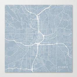 Atlanta Map, USA - Slate Canvas Print
