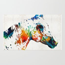 Colorful Horse Art - Wild Paint - By Sharon Cummings Rug